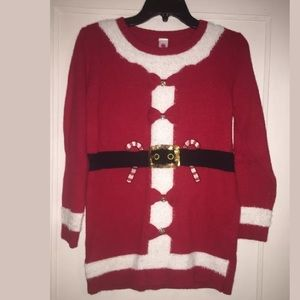 Total Girl Large 14.5-16.5 Plus Santa Sweater